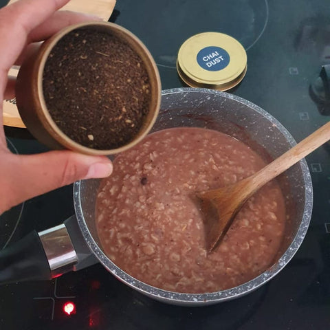 Chai Walli spiced chai, cinnamon and cacao porridge recipe