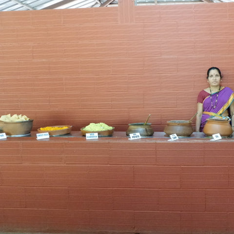Spice plantation traditional goan lunch buffet with woman