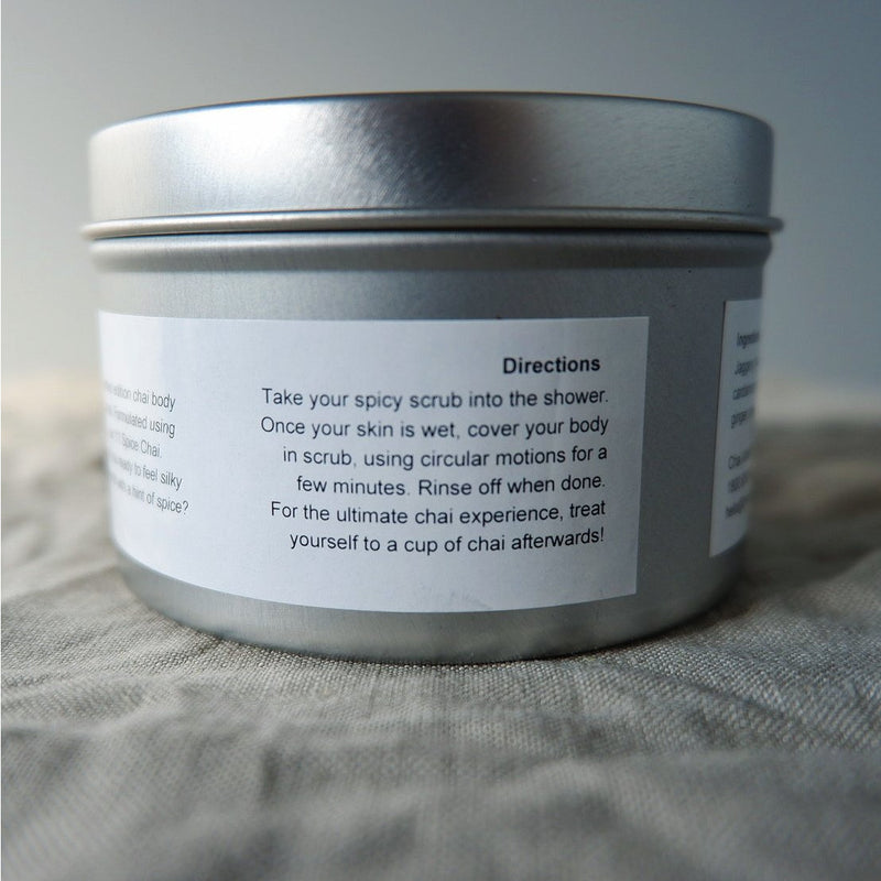 Chai Walli Chai Body Scrub in a jar back view
