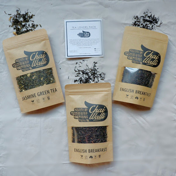 Three Tea Pack (Earl Grey, English Breakfast, Jasmine Green Tea)