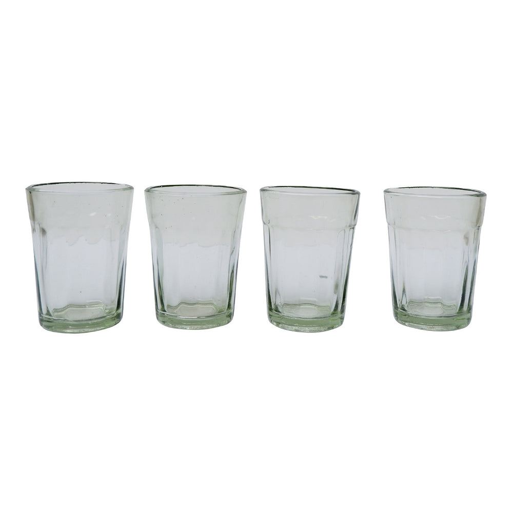 Four Chai Walli Chai Glasses placed side  by side