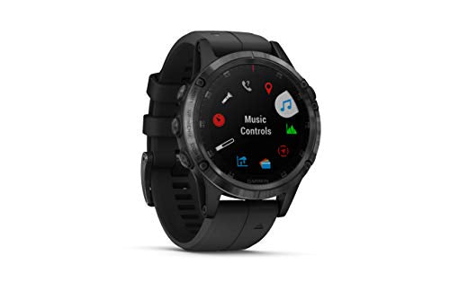 Garmin Fenix 5 Plus Smartwatches, Sapphire, Black w/Black Band - yrGear