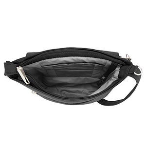 Travelon Anti-Theft Classic Mini Shoulder Bag, Black (Black) - 42459 500 - yrGear