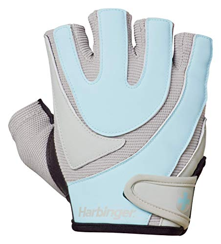 Harbinger Women's Training-Grip Weightlifting Gloves with TechGel-Padded Leather Palm (Pair) - yrGear Australia