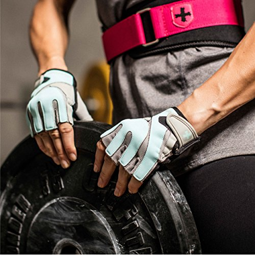Harbinger Women's Training-Grip Weightlifting Gloves with TechGel-Padded Leather Palm (Pair) - yrGear