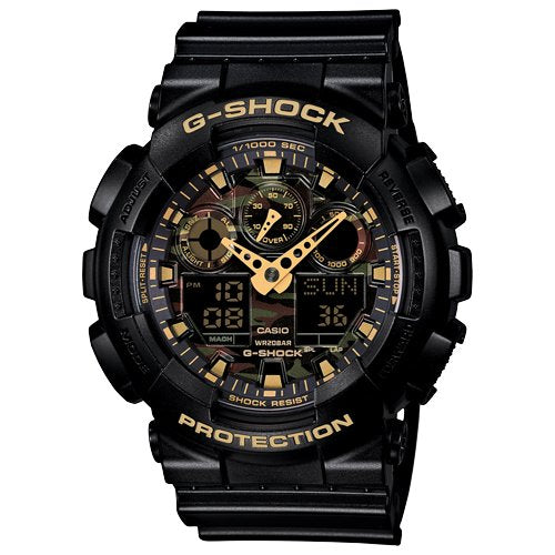 GSHOCK mens Automatic Watch Analog-digital Display and Resin Strap GA100CF-1A9 - yrGear