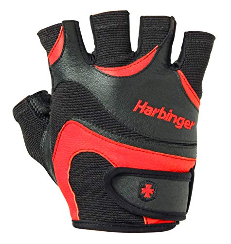 Harbinger Men's Flexfit Weightlifting Gloves with Flexible Cushioned Leather Palm (Pair), Medium - yrGear