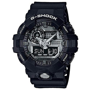 Casio G-Shock Analogue/Digital Mens Black/Silver Watch GA710-1A GA-710-1ADR - yrGear