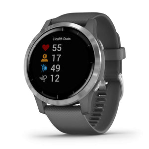 Garmin 010-02174-02 vivoactive 4, Shadow Gray/Silver, Shadow Gray/Silver - yrGear