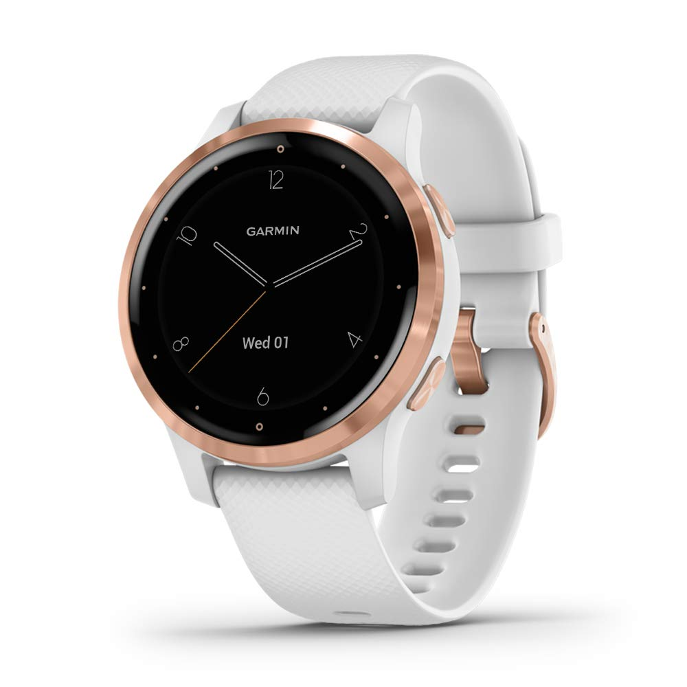 Garmin 010-02172-22 vivoactive 4S, White/Rose Gold, White/Rose Gold - yrGear Australia