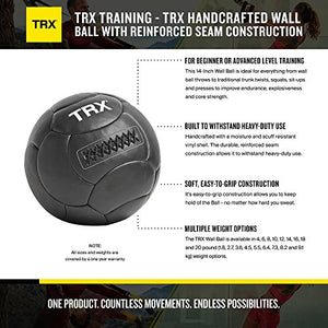 TRX Training Handcrafted Wall Ball with Reinforced Seam Construction, 4 Pounds (1.8 kg) - yrGear Australia
