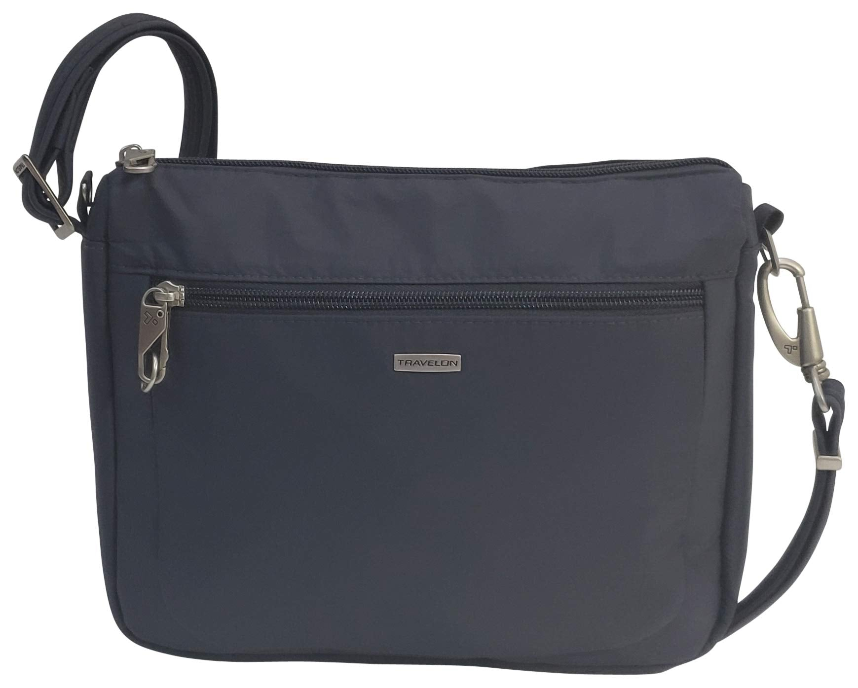 Travelon Anti-Theft Classic Small E/w Crossbody Bag (Dark Grey/Grey Lining) - yrGear
