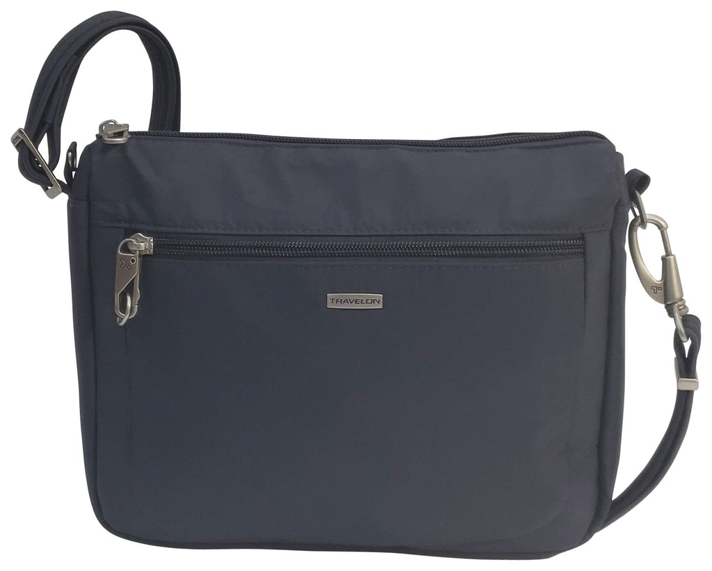 Travelon Anti-Theft Classic Small E/w Crossbody Bag (Dark Grey/Grey Lining) - yrGear Australia