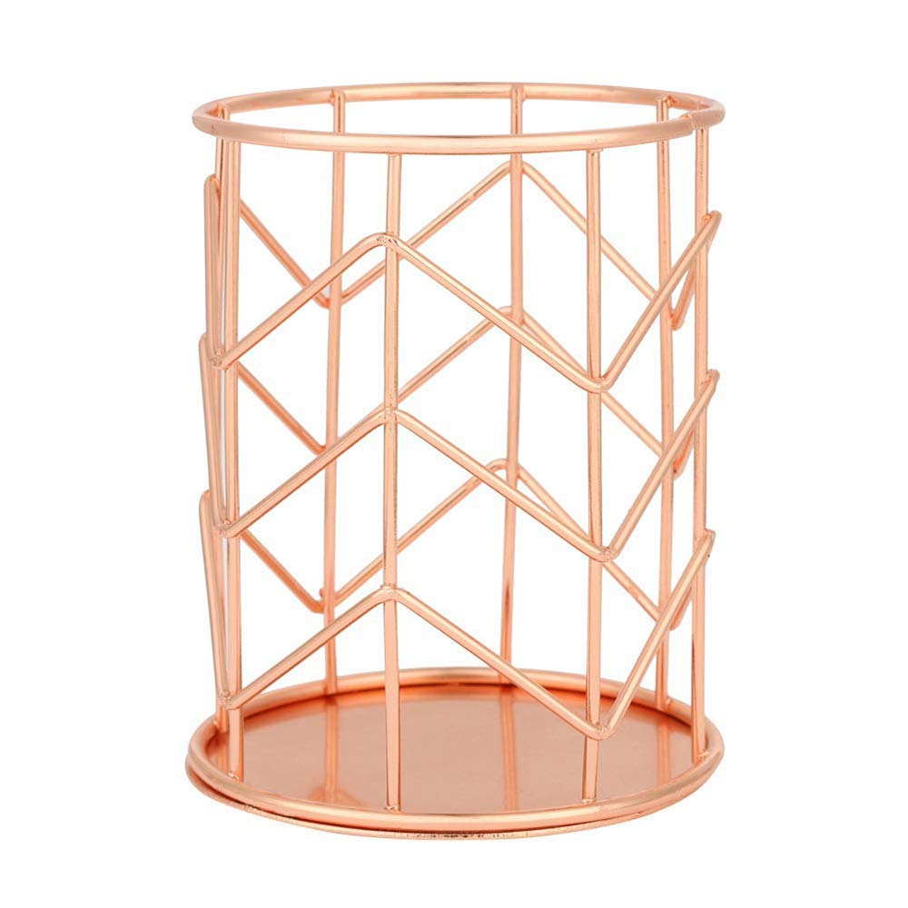 Rose Gold Desktop Pen Holder