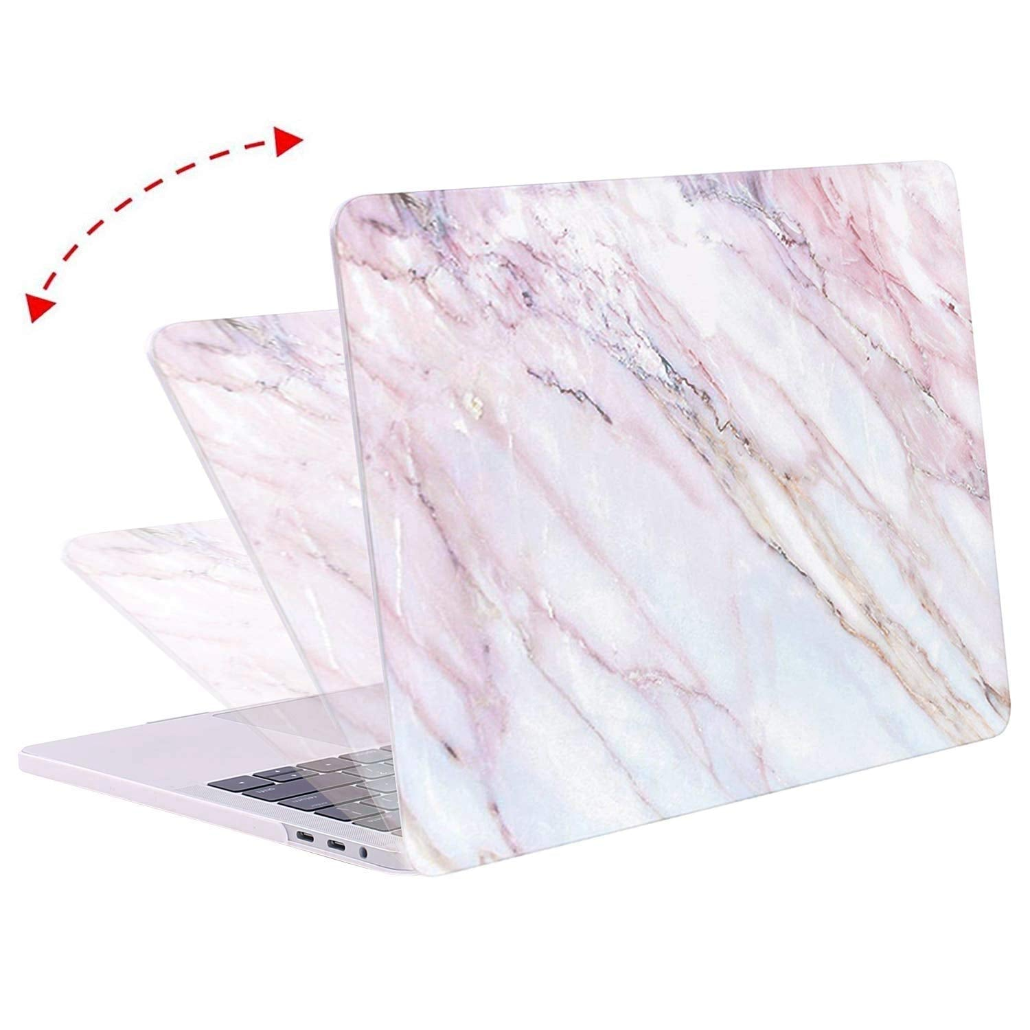 MOSISO MacBook Pro 13 Inch Case Pink Marble