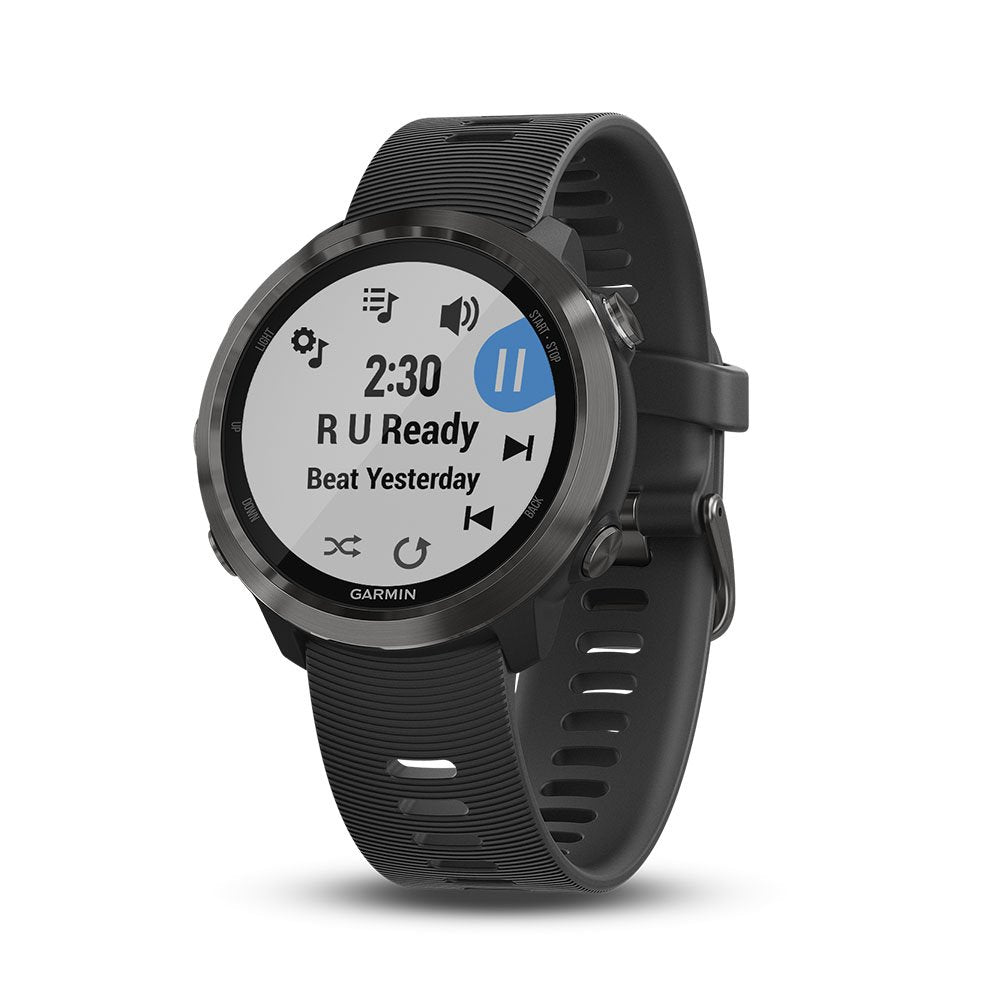 Garmin Forerunner 645 Music, GPS Running Watch with Contactless Payments, Wrist-Based Heart Rate and Music, Slate - yrGear