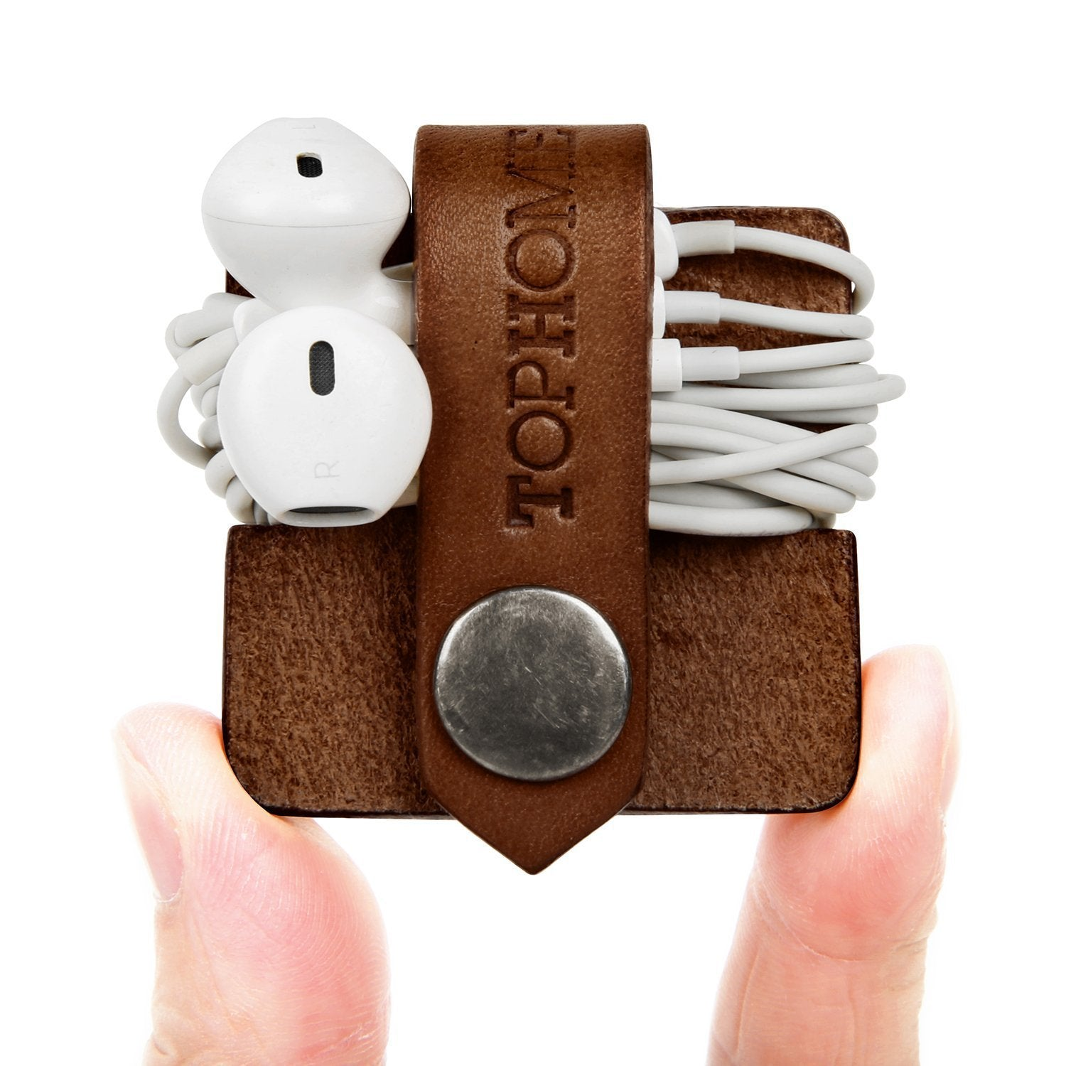 Genuine Leather Earphone Cable Tidy - yrGear
