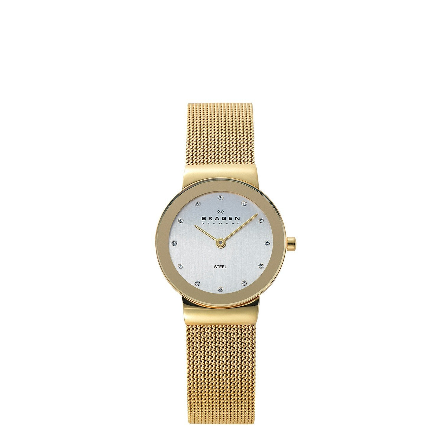 Skagen Women's 358SGGD White Label Analog Quartz Gold Watch - yrGear