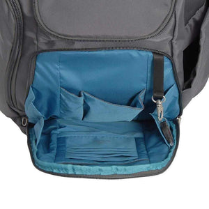 Travelon Anti Theft Classic Backpack (DARK GREY W/TEAL LINING) - yrGear