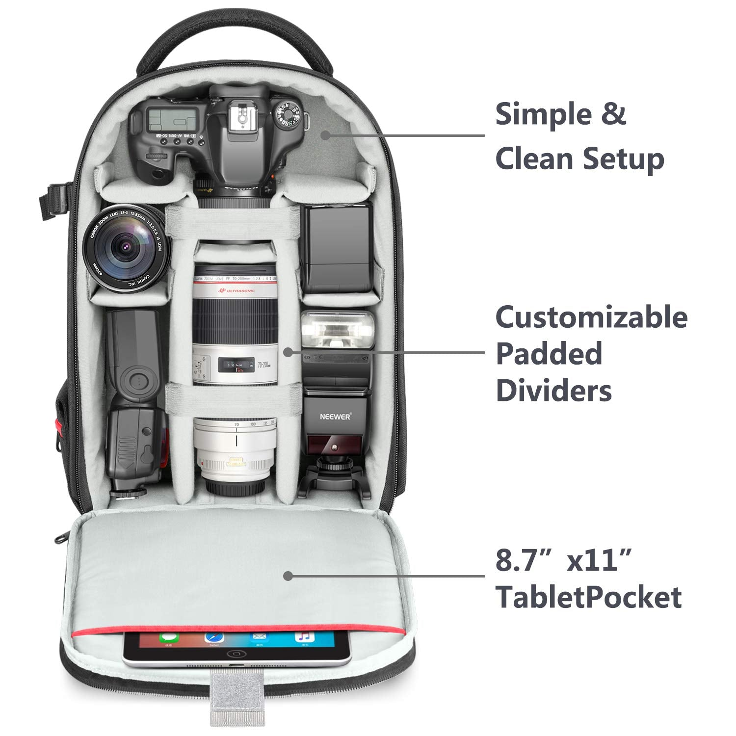 DSLR Camera Travel Backpack