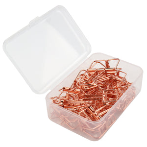 Rose Gold Hollow Binder Clips + Paperclips (75 Pack) - yrGear