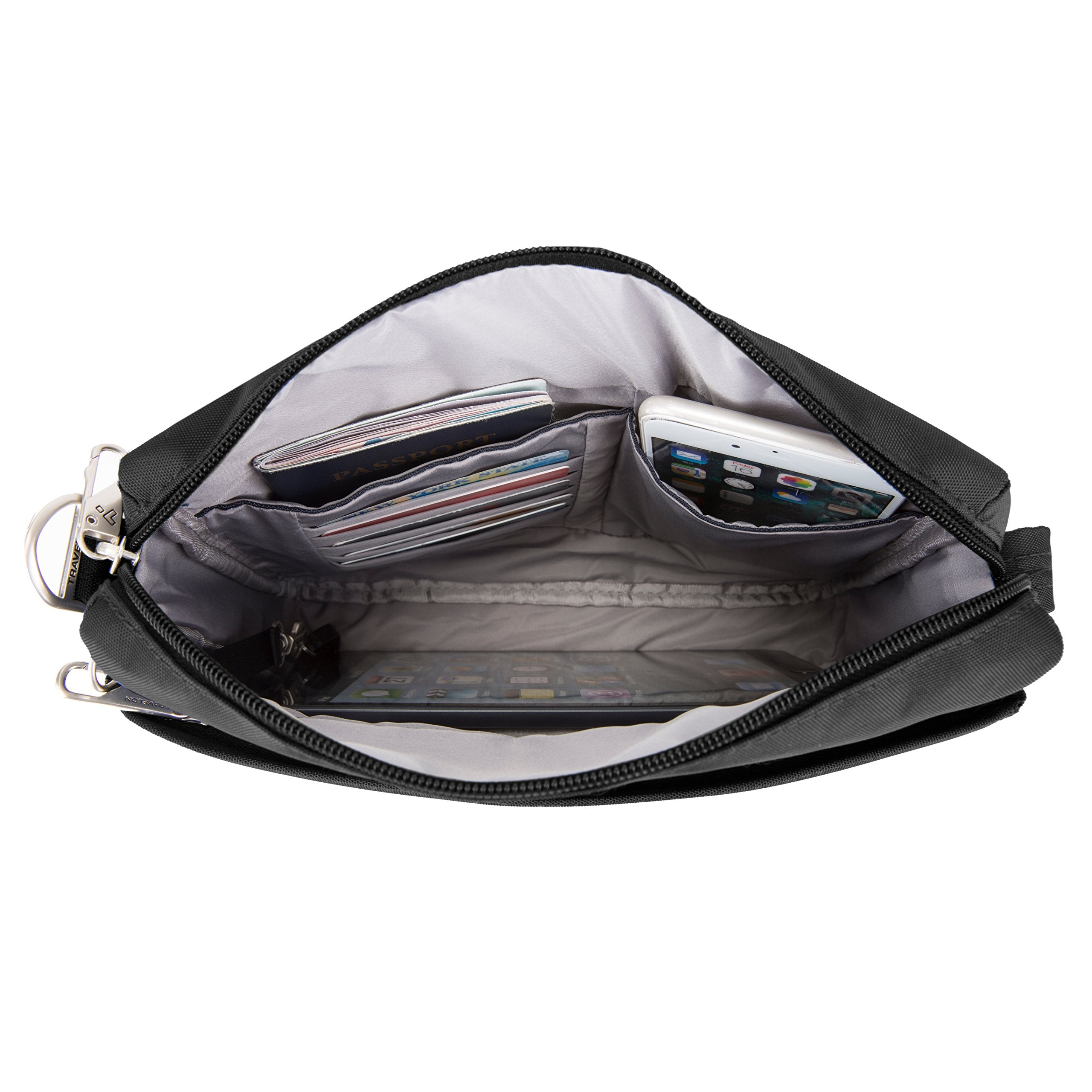Travelon Anti-Theft Classic Small E/w Crossbody Bag, Black (Black) - 43115 500 - yrGear Australia