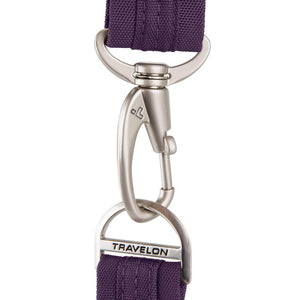 Travelon Anti-Theft Cross-Body Bag, Two Pocket, Dark Purple (Purple) - 42373-150