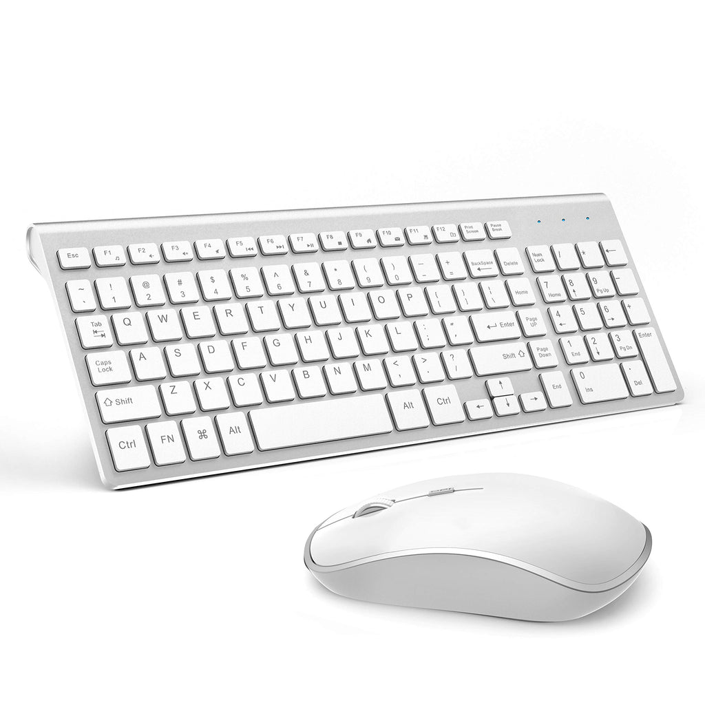 Wireless Keyboard and Mouse Combo (White) - yrGear Australia