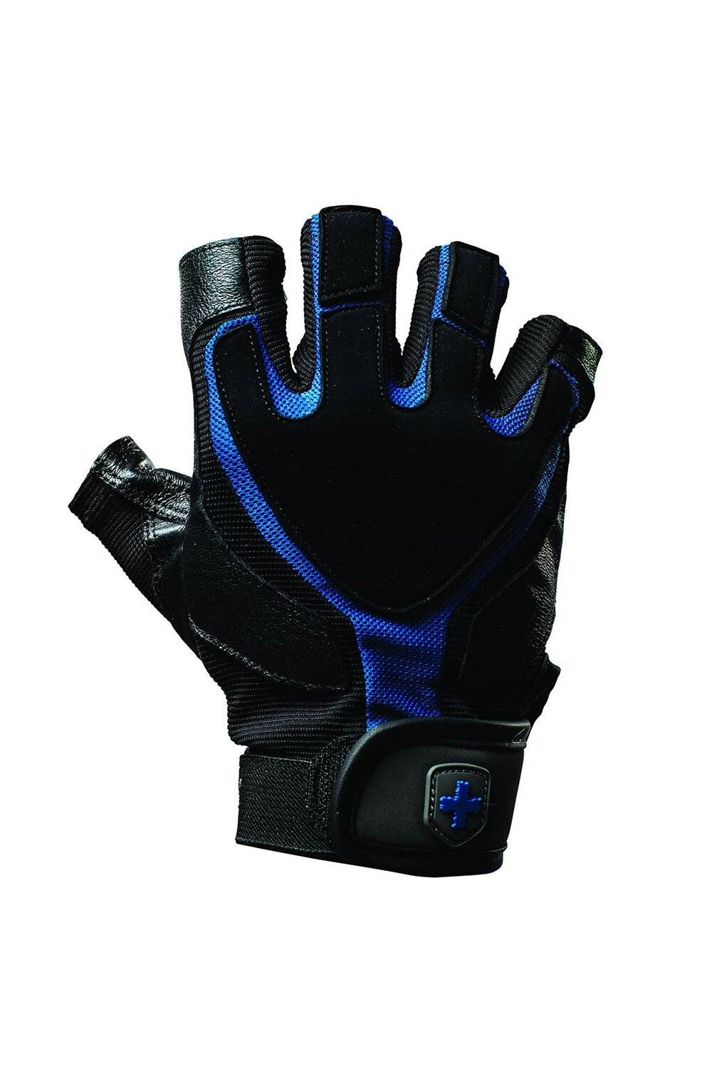 Harbinger Training Grip Tech Gel-Padded Leather Palm Weightlifting Gloves, Pair, Small