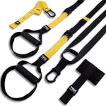 TRX Training – Suspension Trainer Basic Kit + Door Anchor, Complete Full Body Workouts for Home and on The Road - yrGear