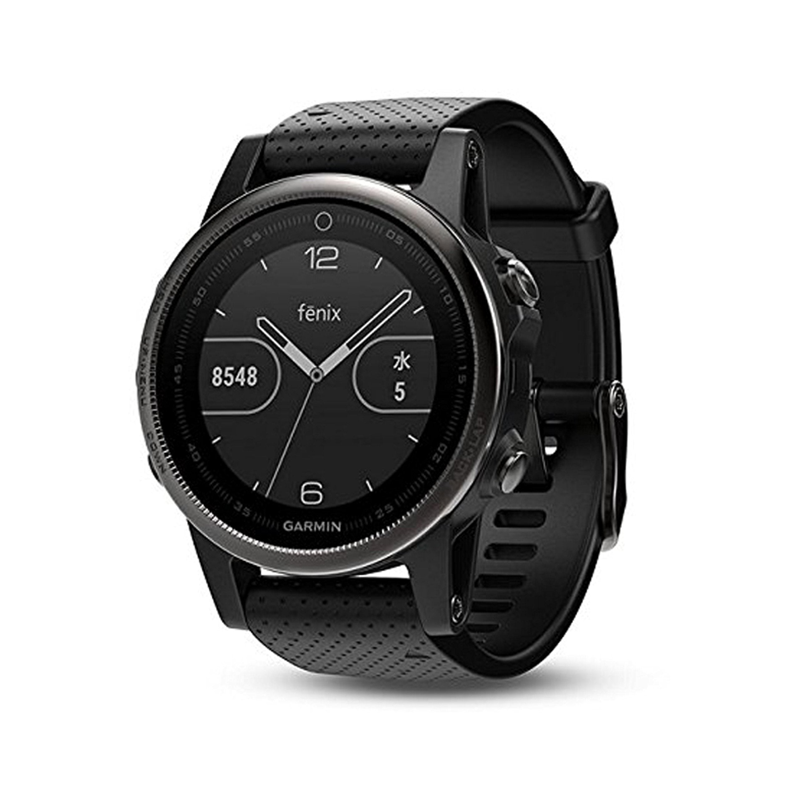 Garmin 010-01685-02 Fenix 5s GPS Watch WW, Silver with Black band - yrGear Australia