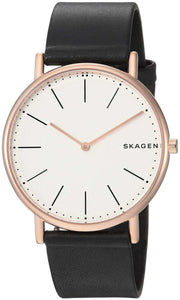 Skagen Men's Quartz Watch analog Display and Leather Strap, SKW6430 - yrGear