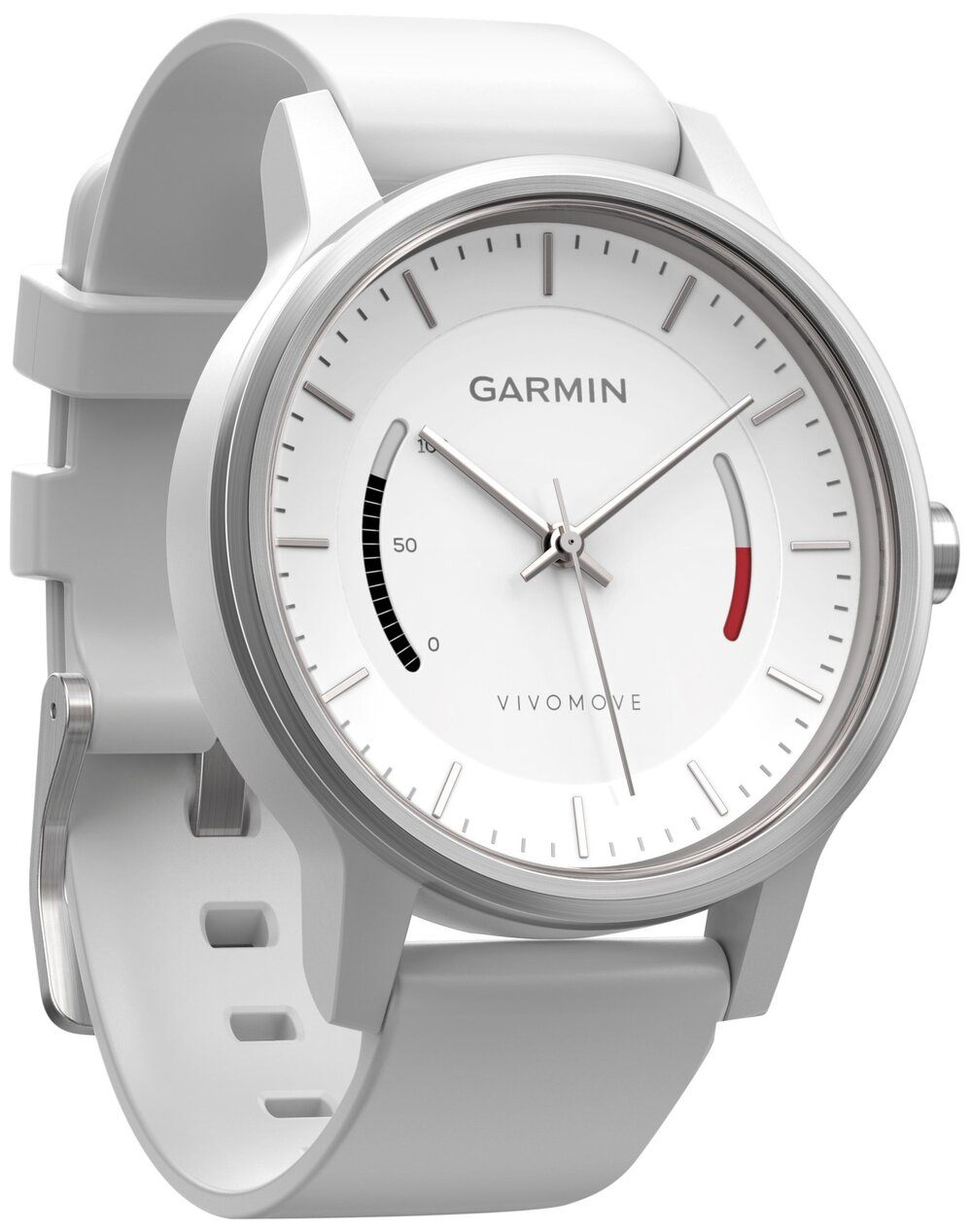 Garmin 010-01597-01 vivomove Sport with Sport Band, White - yrGear Australia