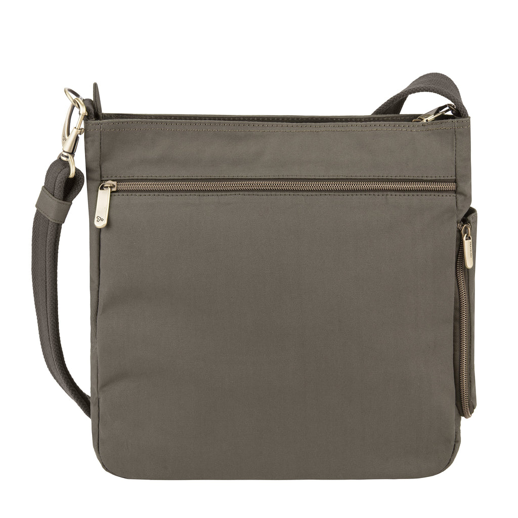 Travelon Travelon Anti-theft Courier N/S Crossbody, Stone Gray (gray) - 33304-840 - yrGear