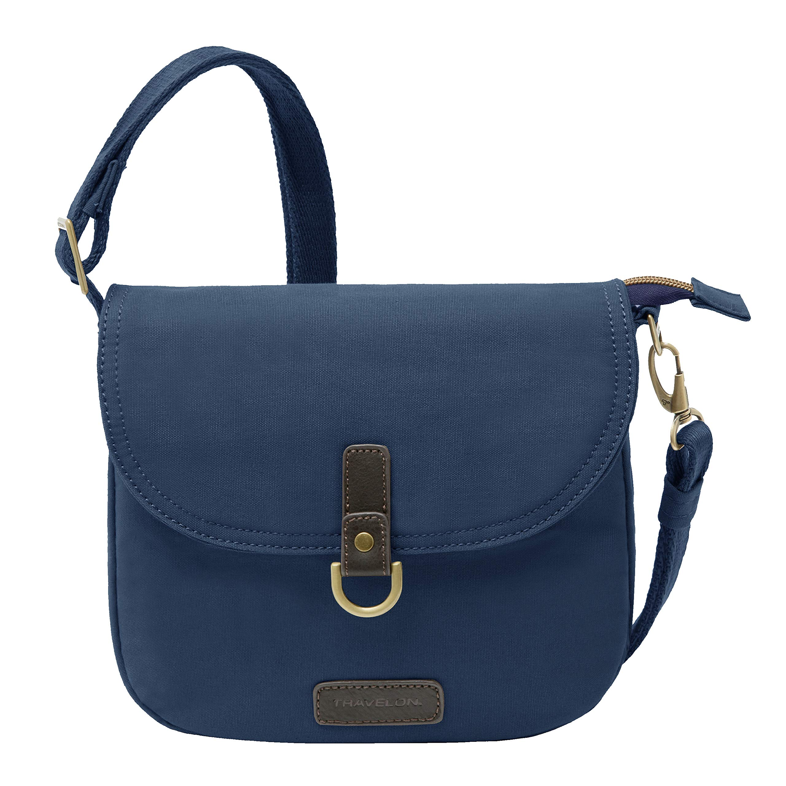 Travelon Anti-theft Courier Saddle Crossbody, Navy (blue) - 33419-350 - yrGear