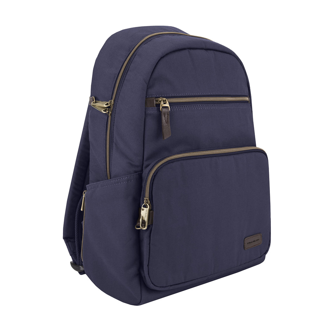 Travelon Travelon Anti-theft Courier Slim Backpack, Navy (blue) - 33307-350 - yrGear