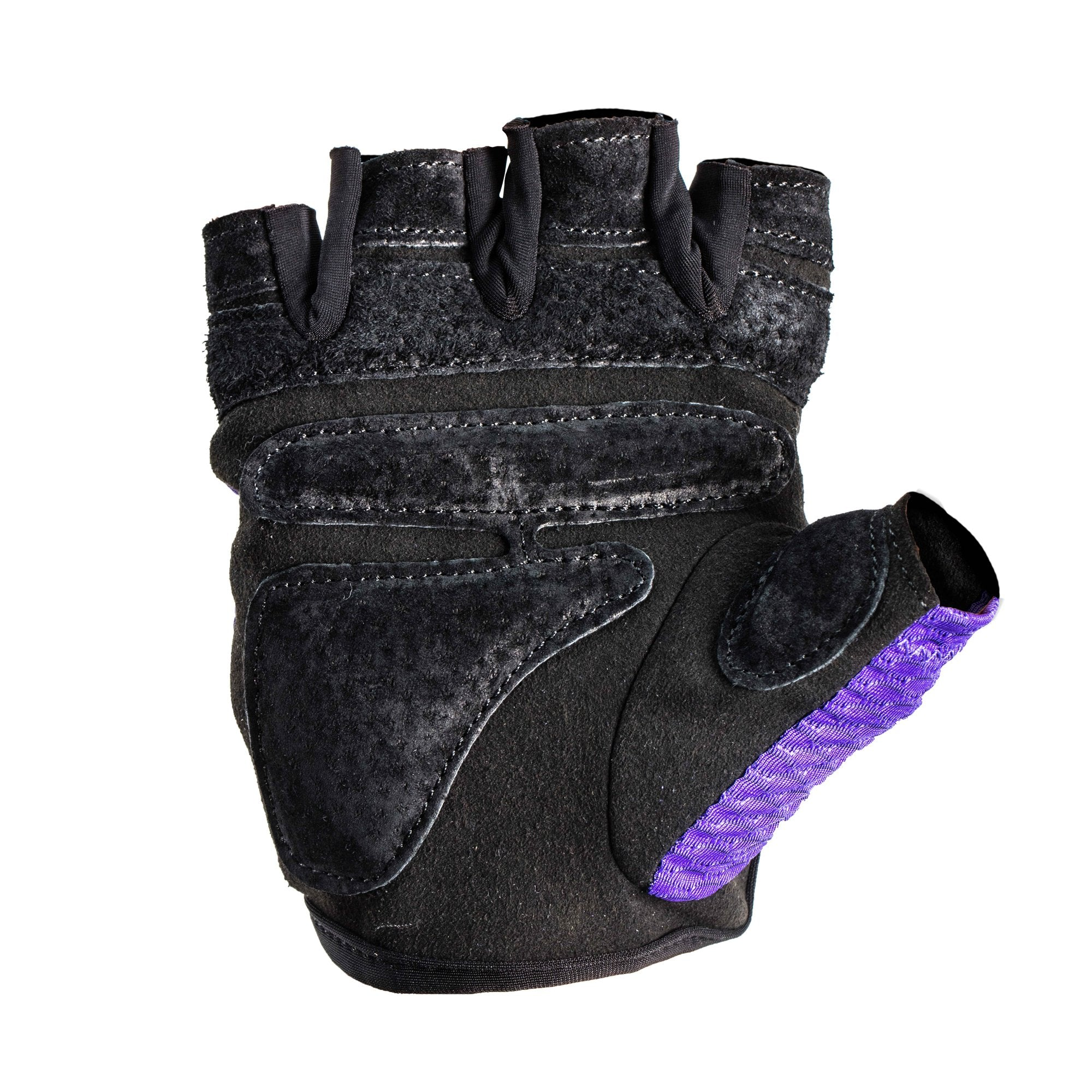 Harbinger Women's Flexfit Weightlifting Gloves with Flexible Cushioned Leather Palm (Pair), Purple, Medium - yrGear