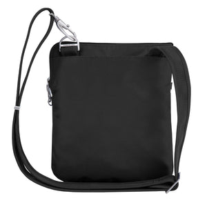 Travelon Anti-Theft Classic Slim Dbl Zip Crossbody Bag, Black (Black) - 43116 500 - yrGear