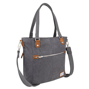 Travelon Anti-Theft Heritage Tote Bag, Pewter (Gray) - 33075 540 - yrGear