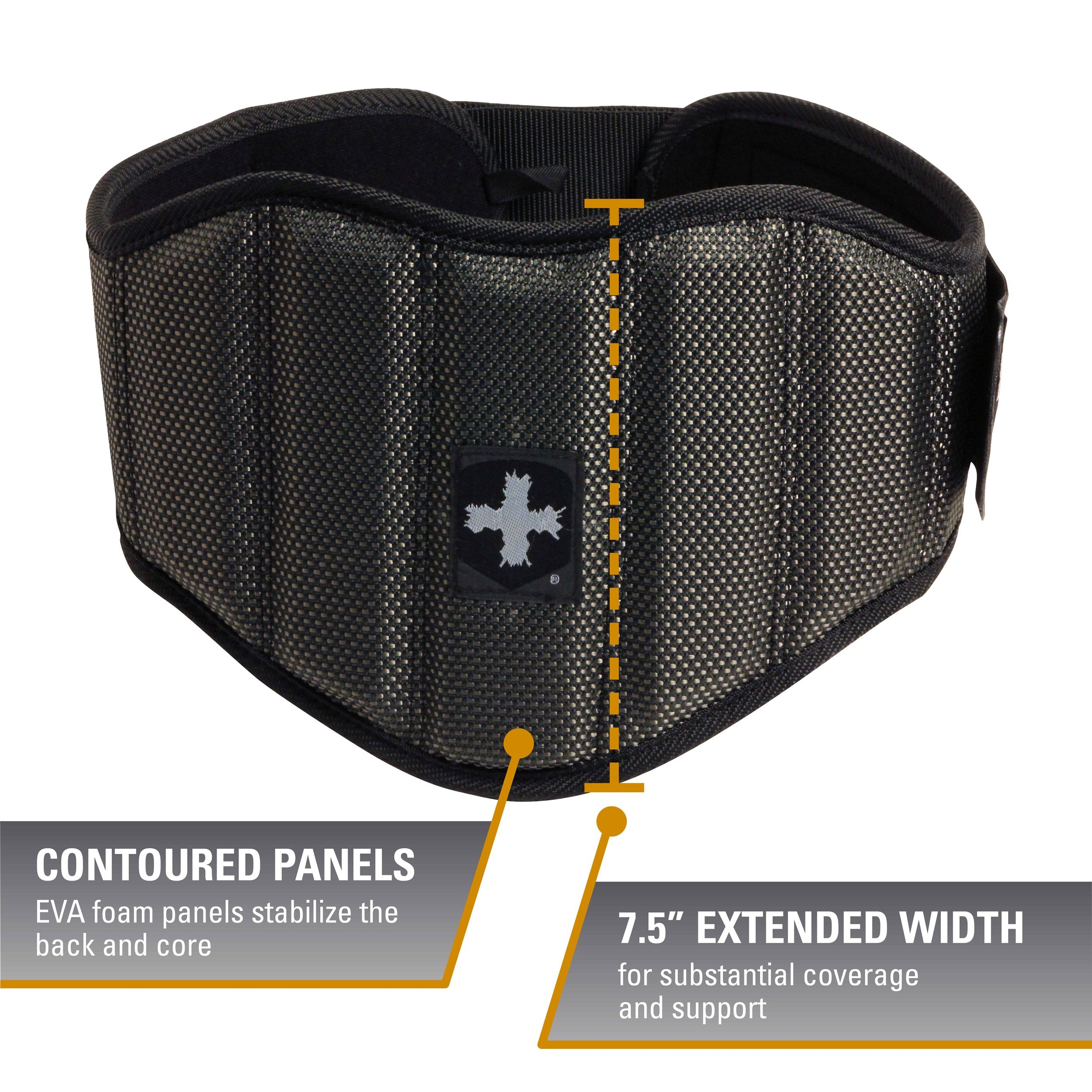 Harbinger Men's Firm Fit 7.5-Inch Contoured Weightlifting Belt, Small - yrGear