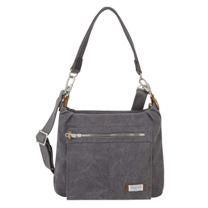 Travelon Anti-Theft Heritage Hobo Bag, Pewter (Gray) - 33072 540 - yrGear