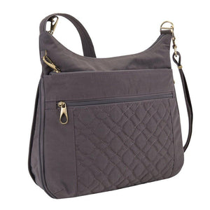 Travelon Travelon Anti-theft Signature Quilted Expansion Crossbody, Smoke (gray) - 43325-531 - yrGear Australia