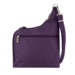 Travelon Anti-Theft Cross-Body Bag, Two Pocket, Dark Purple (Purple) - 42373-150 - yrGear