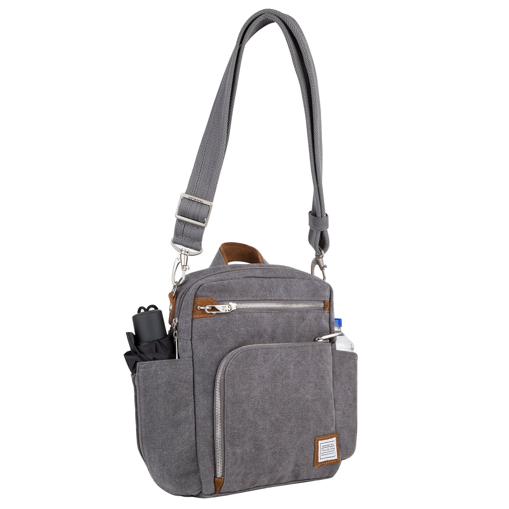 Travelon Anti-Theft Heritage Tour Bag, Pewter (Gray) - 33074 540 - yrGear