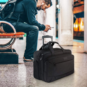 Water Resistant Rolling Laptop Briefcase - yrGear Australia