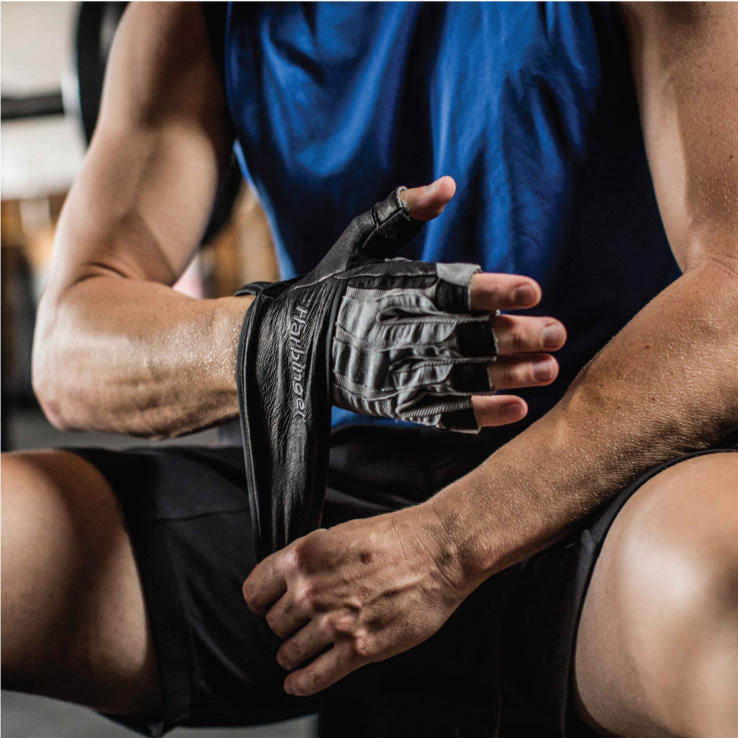Harbinger Men's BioForm WristWrap Weightlifting Glove with Heat-Activated Cushioned Palm (Pair), Large - yrGear