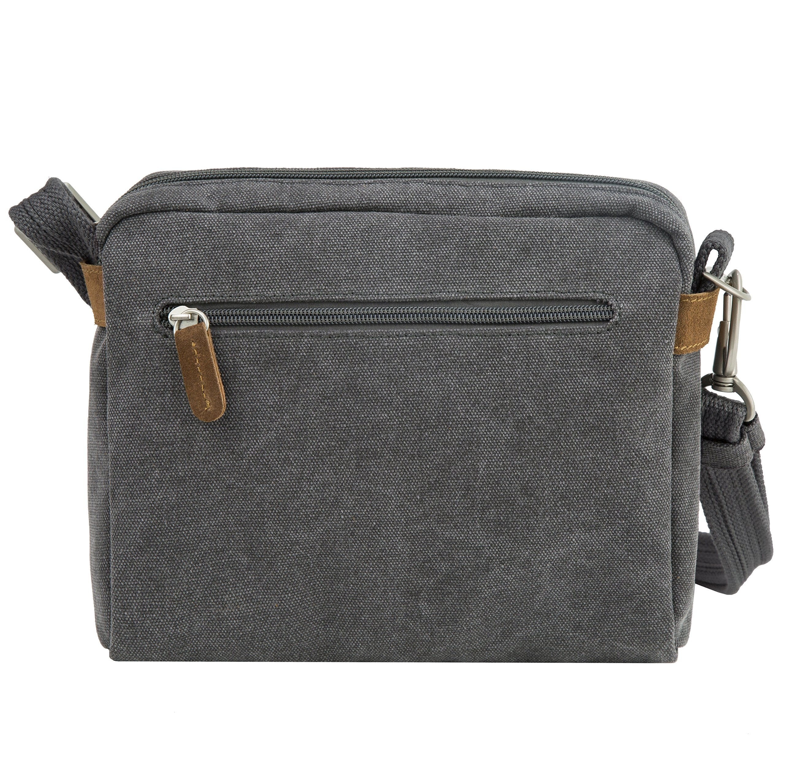 Travelon Anti-Theft Heritage Crossbody Bag, Pewter (Gray) - 33071 540 - yrGear