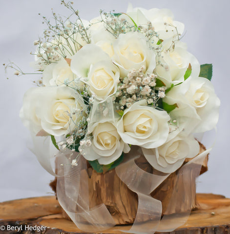 Cream Silk Wedding Bouquet