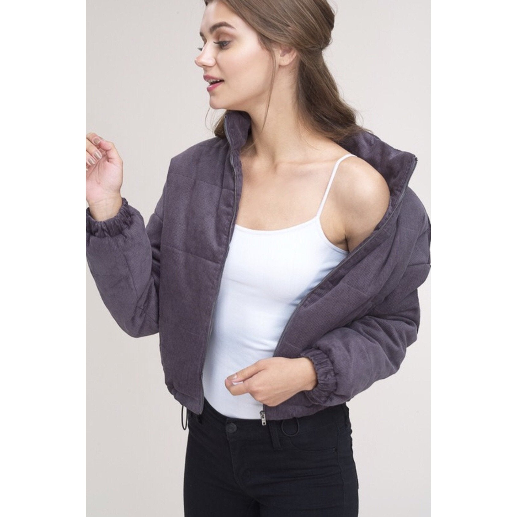 Poppy Puff Jacket - Plum