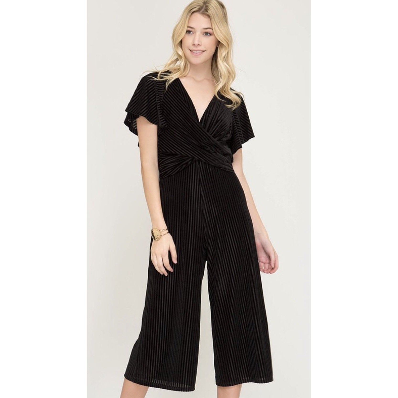 Knot For Long Culotte Jumper - Black